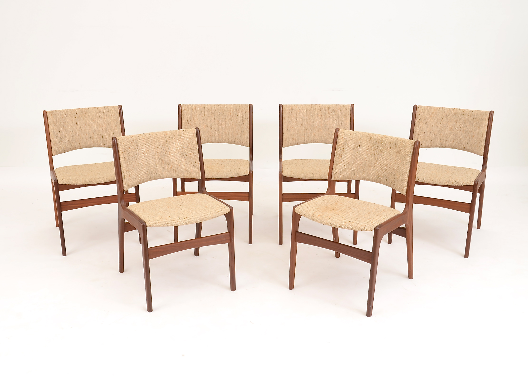 danish design dining chairs wood erik buch designed danish modern dining chairs ebth