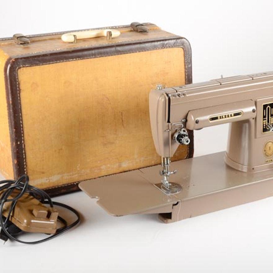 40 Singer Sewing Machine Model 40A In Original Case EBTH Simple 301a Singer Sewing Machine