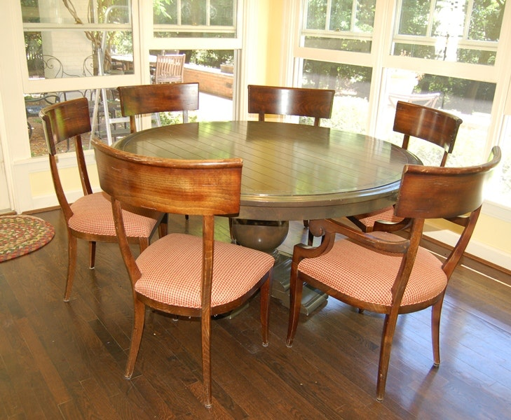 lockhart fine furniture dining table and baker empire chairs ebth lockhart fine furniture dining table and baker empire chairs