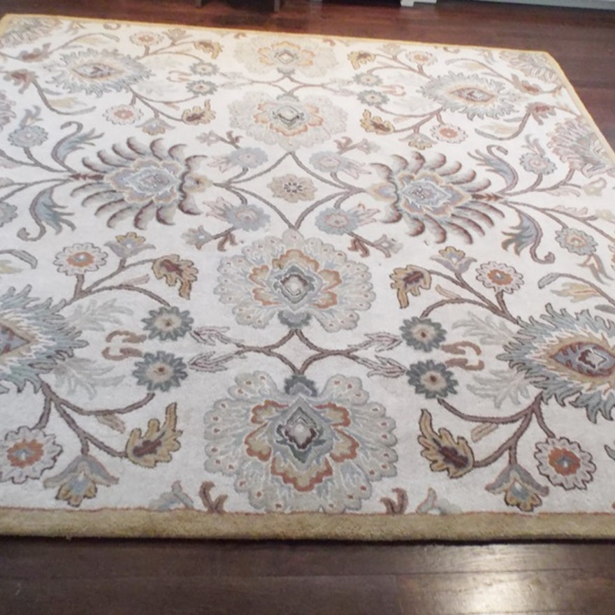 100 Wool Tufted Asian Style Area Rug