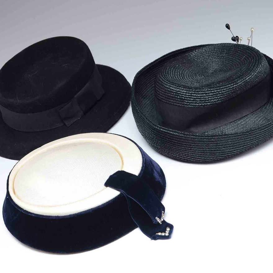 dde3aa02fa6 Collection of Vintage Hats   EBTH