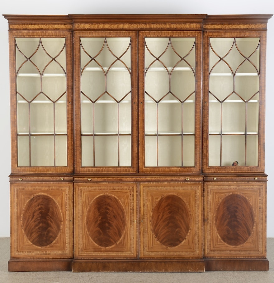 Chippendale China Cabinet Ej Victor Breakfront China Cabinet Ebth