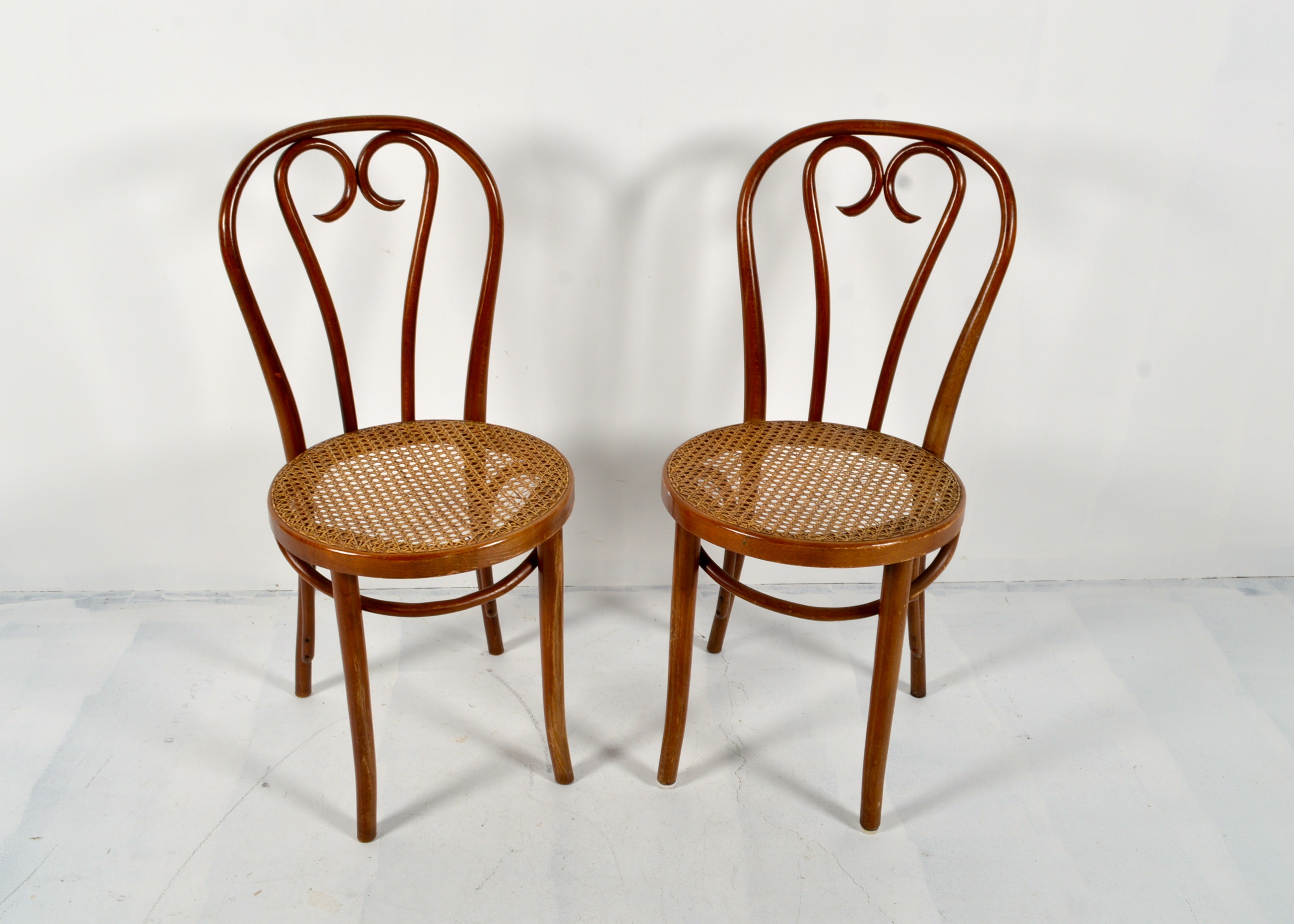 Vintage Bentwood Cane Chairs