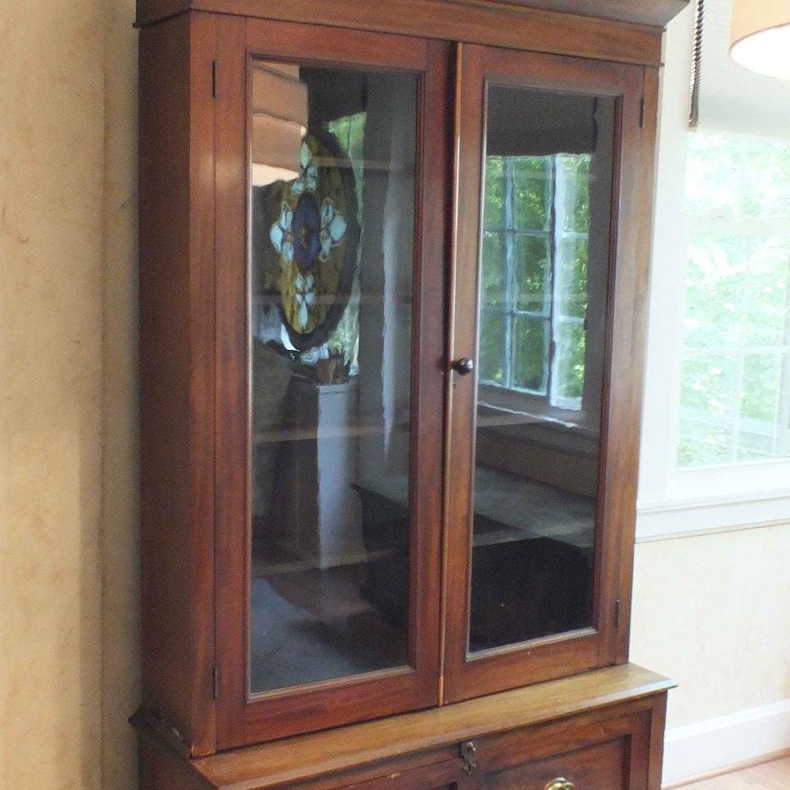 Antique Gun Cabinet Re-Purposed as Library Cabinet ... - Antique Gun Cabinet Re-Purposed As Library Cabinet : EBTH