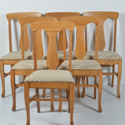 Set of Six Antique Quarter Sawn Oak Dining ChairsVintage Chairs  Antique Chairs and Retro Chairs Auction in  . Antique Quarter Sawn Oak Dining Table And Chairs. Home Design Ideas