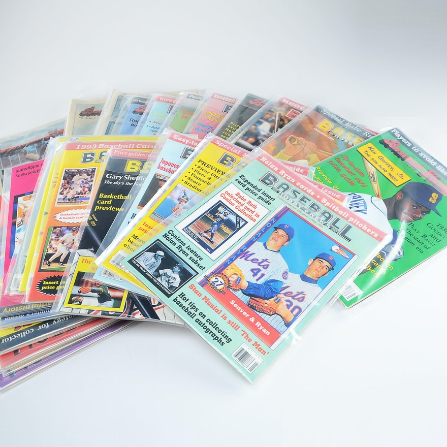 A Lot Of Vintage Baseball Hobby News Magazine