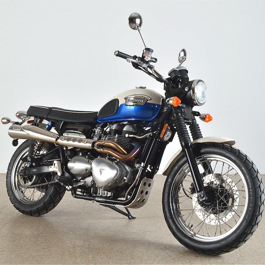 2006 Triumph Scrambler 900 Cafe Style Motorcycle