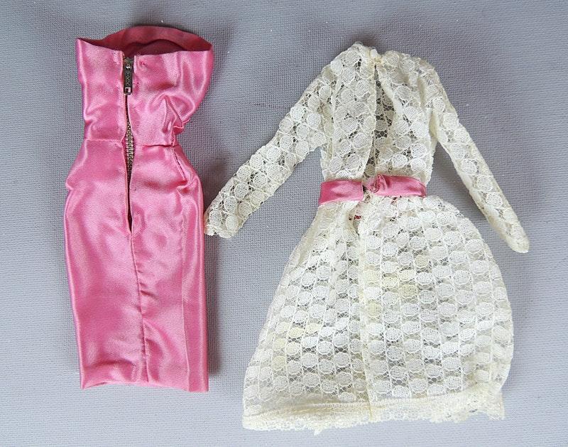 Vintage 1960s barbie doll garden wedding dress ensemble for Barbie wedding dresses for sale
