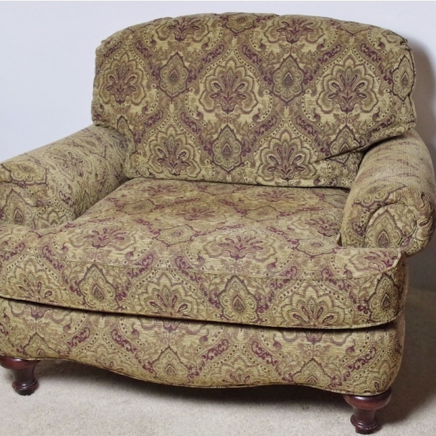 Overstuffed armchair with tapestry upholstery ebth for Overstuffed armchair