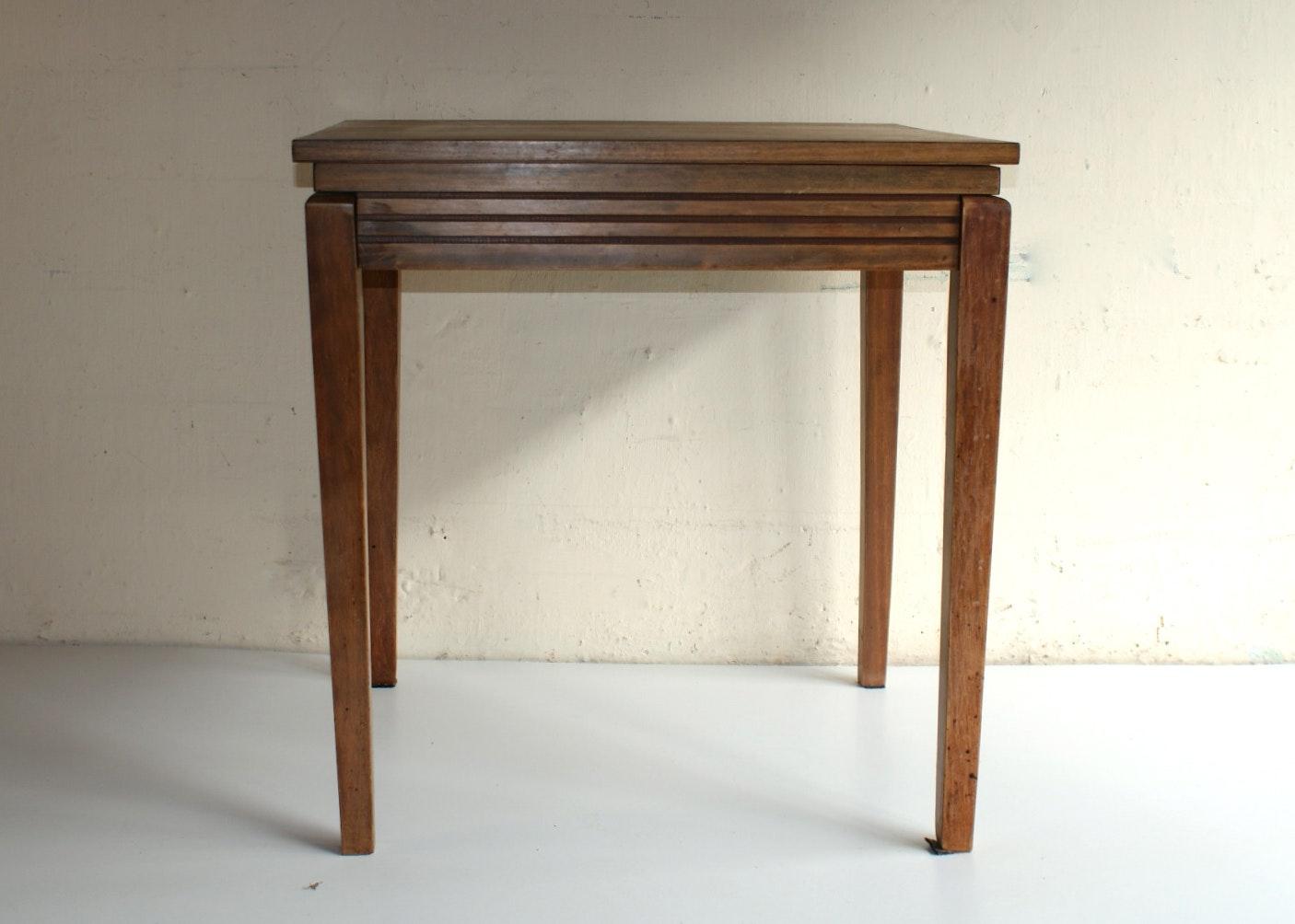 Vintage Oak Veneer Swivel Top Table ...