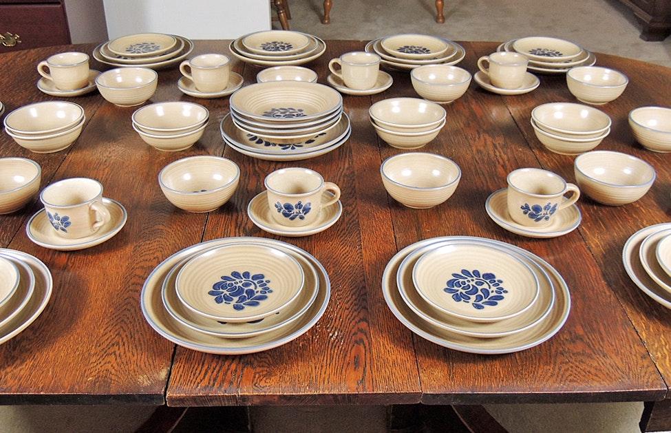 Pfaltzgraff Pottery Folk Art Dinnerware ... & Pfaltzgraff Pottery Folk Art Dinnerware : EBTH