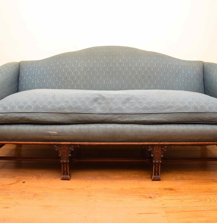 Chippendale Mahogany Camelback Sofa Ebth