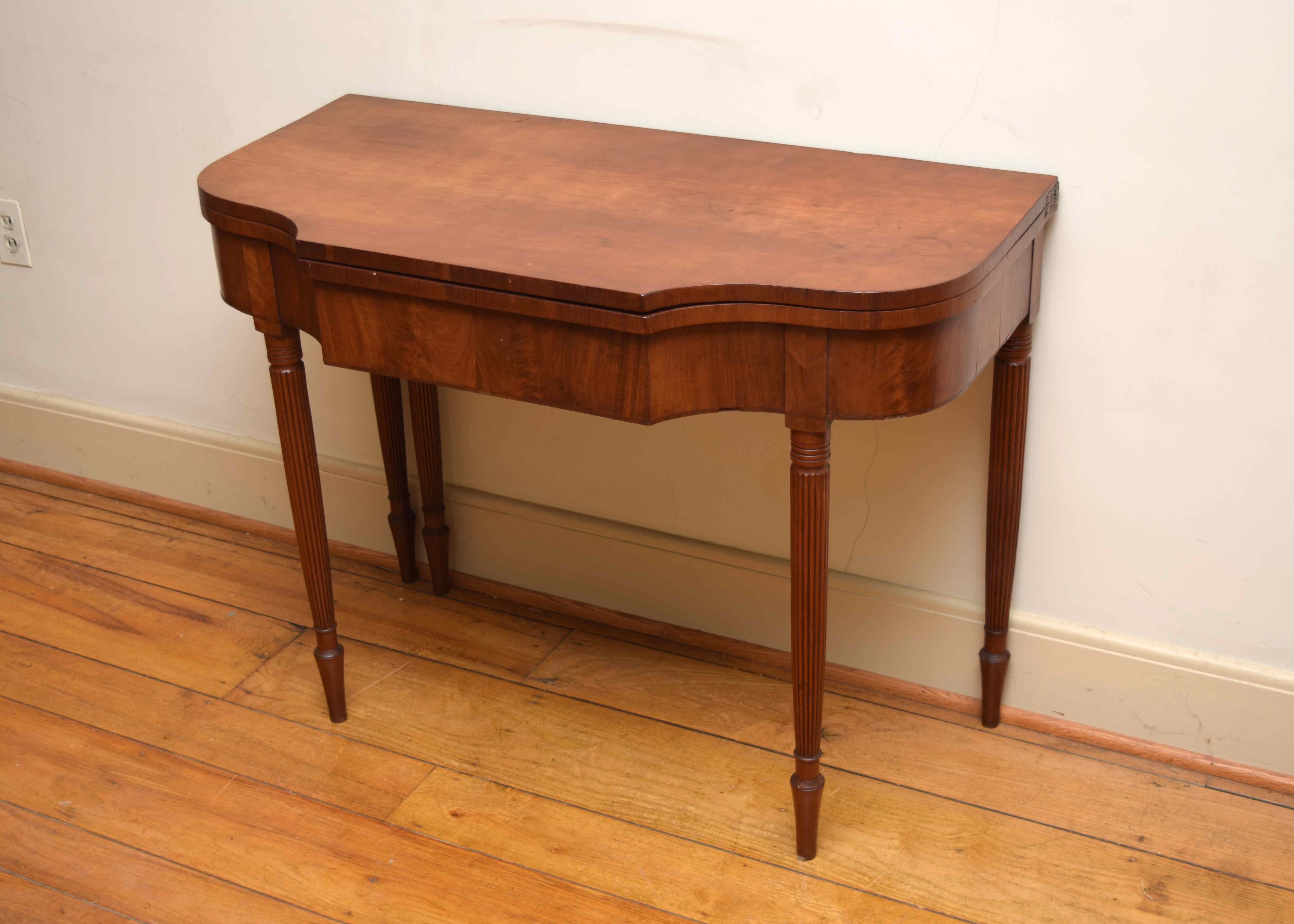 Antique Burled Walnut Game Table