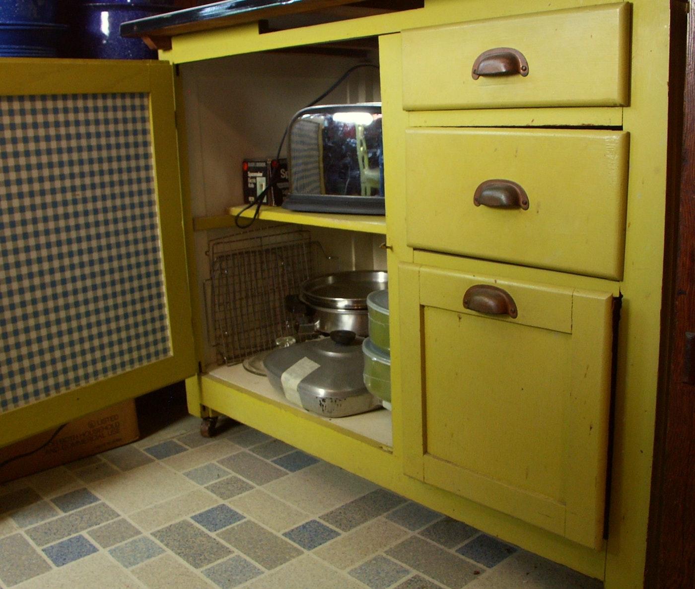 Sale 1950s Kitchen Cabinets: 1950s Kemper 'Hoosier' Style Kitchen Cabinet : EBTH