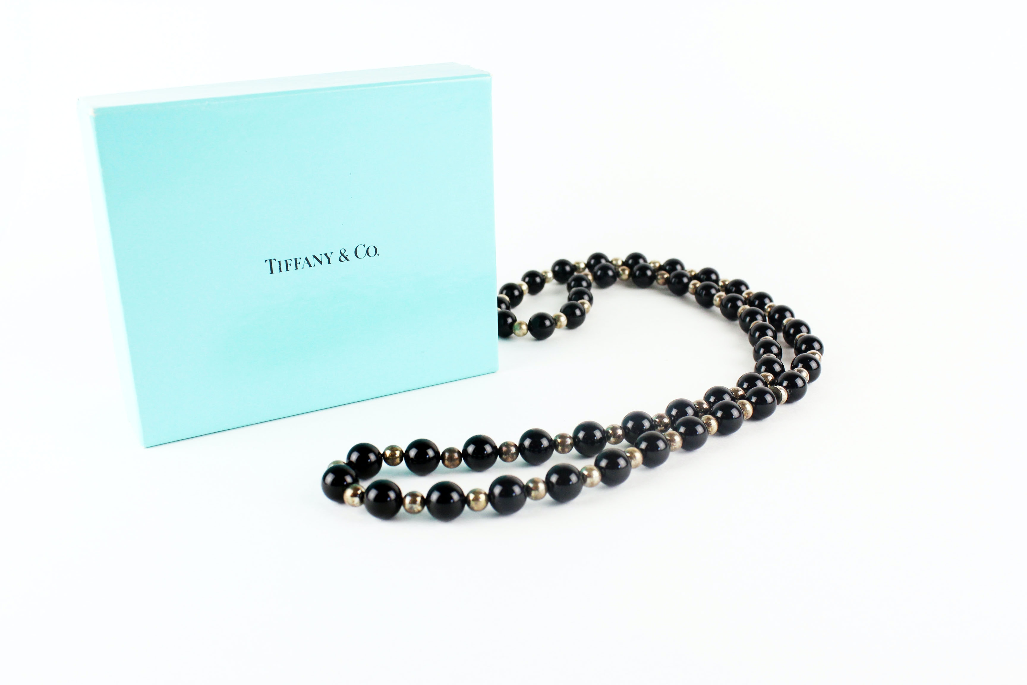 co black onyx and sterling silver beaded