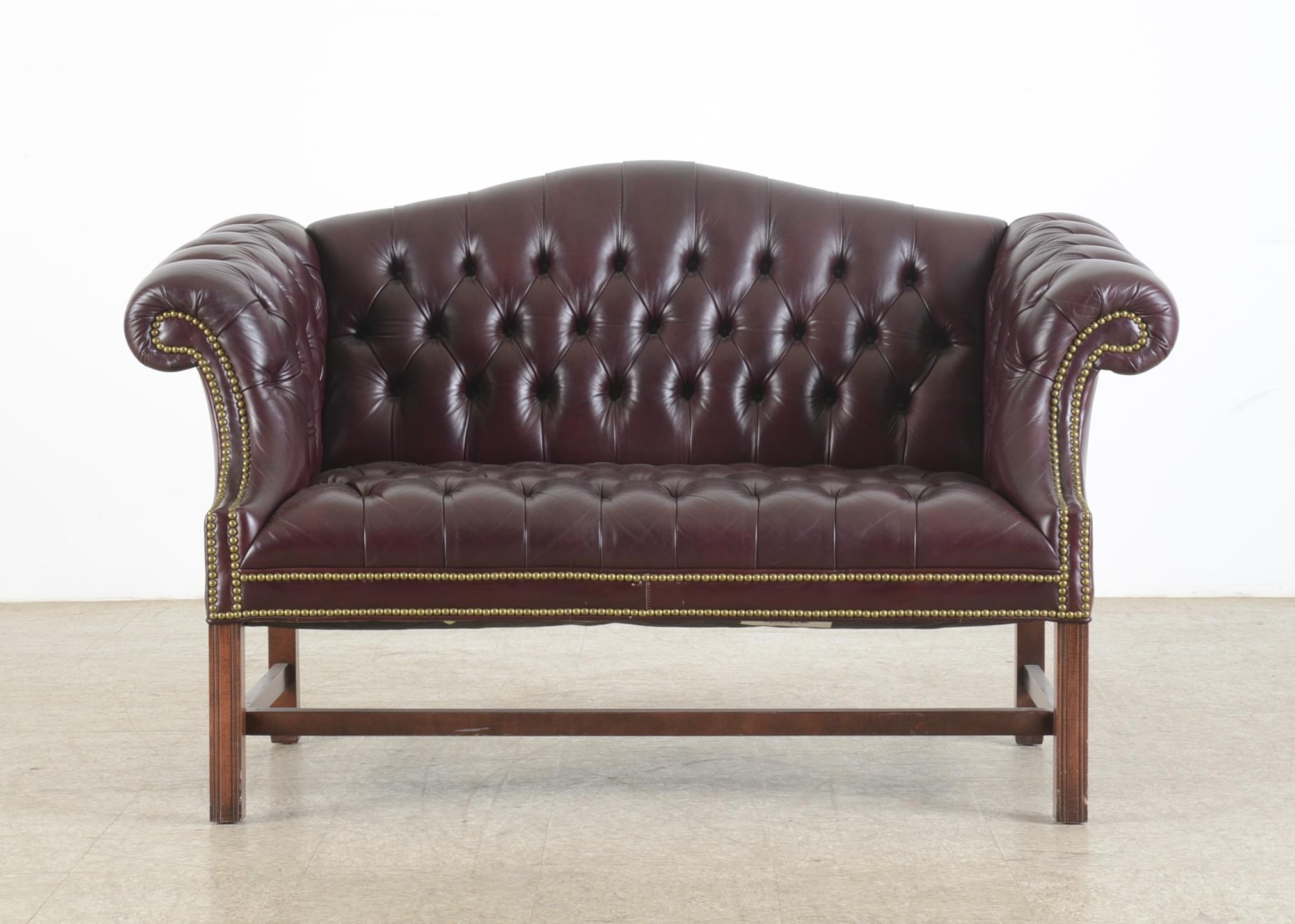 Leather Chesterfield Sofa : EBTH