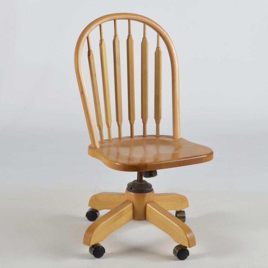 1975 Frank Doerner Spindle Back Pine Office Chair