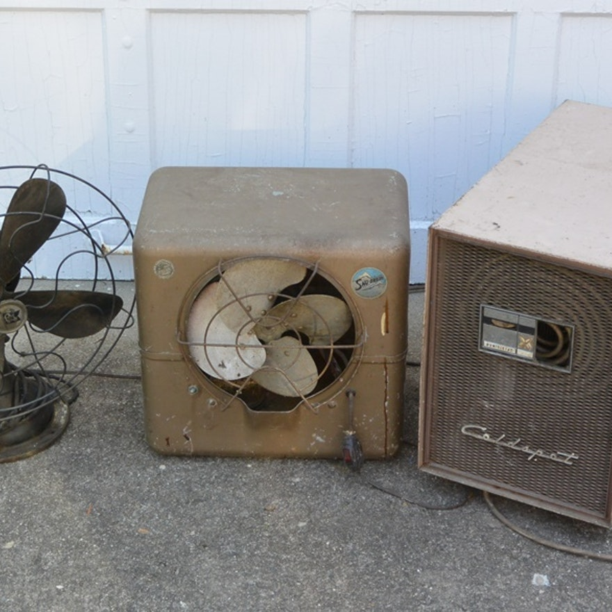 Old Electric Fan, Air Cooler and Dehumidifier