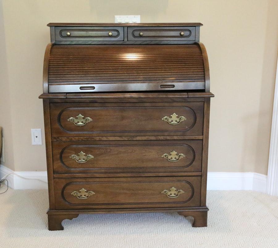 vintage jasper cabinet rolltop desk ebth rh ebth com jasper cabinet antique roll top desk