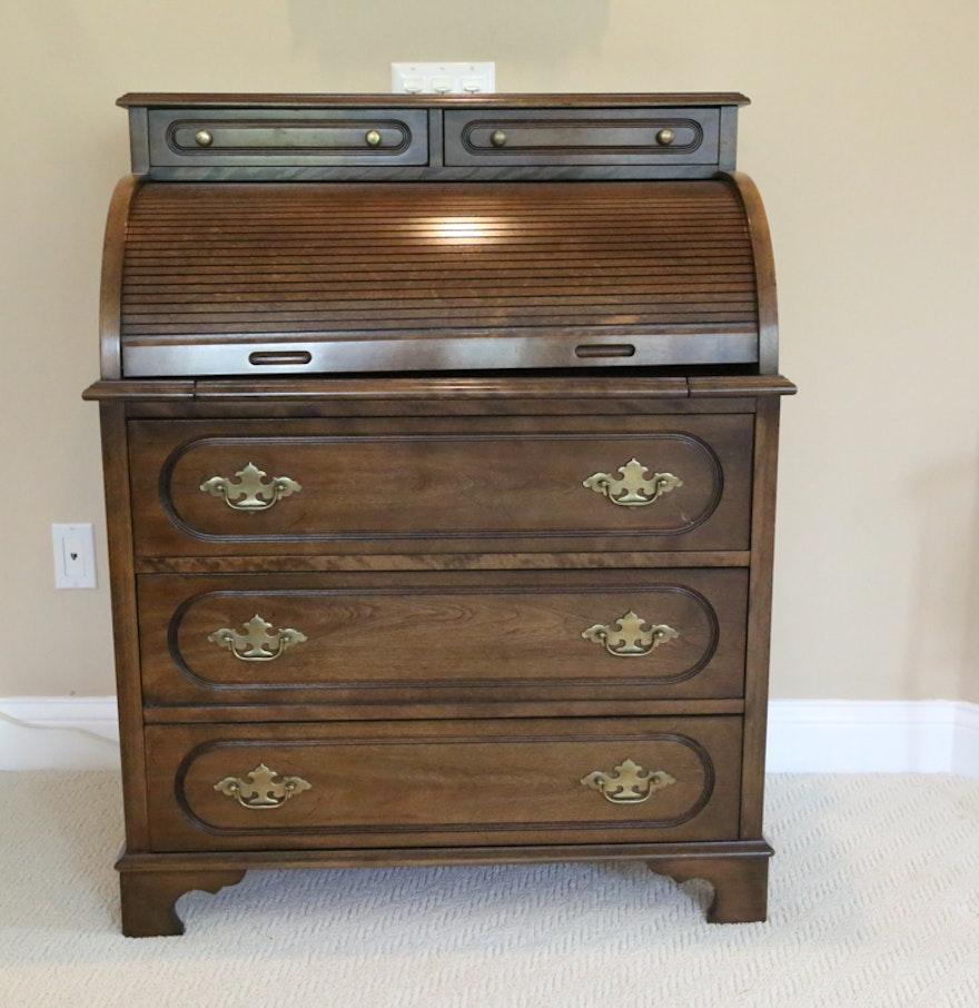 Jasper Curio Cabinet Vintage Jasper Cabinet Rolltop Desk Ebth