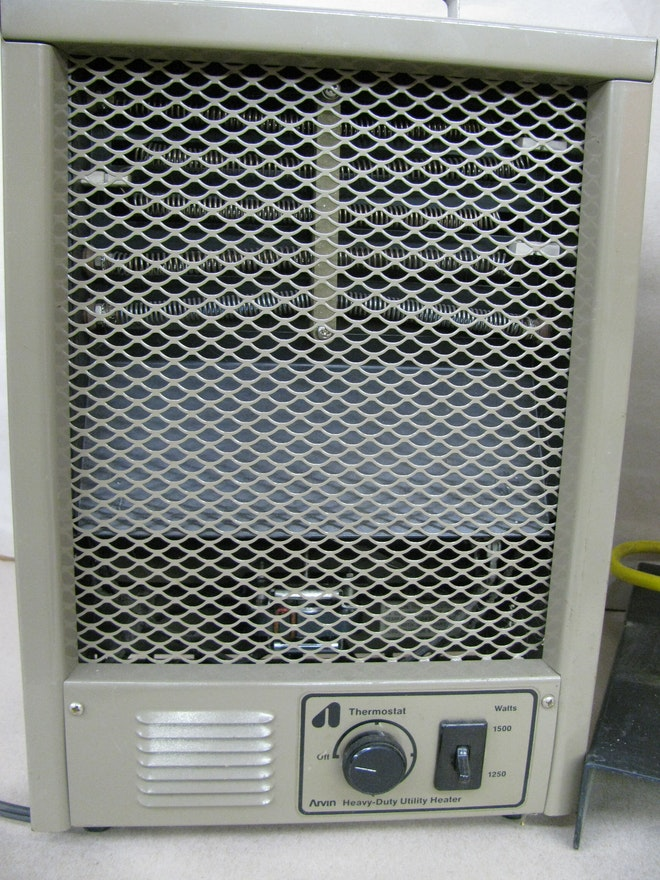 Heavy Duty Infrared Space Heater And Arvin Utility Heater