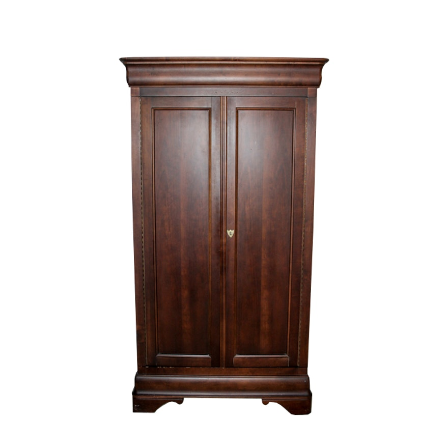 Vintage American Cherry Louis Phillipe Style Armoire By Mt