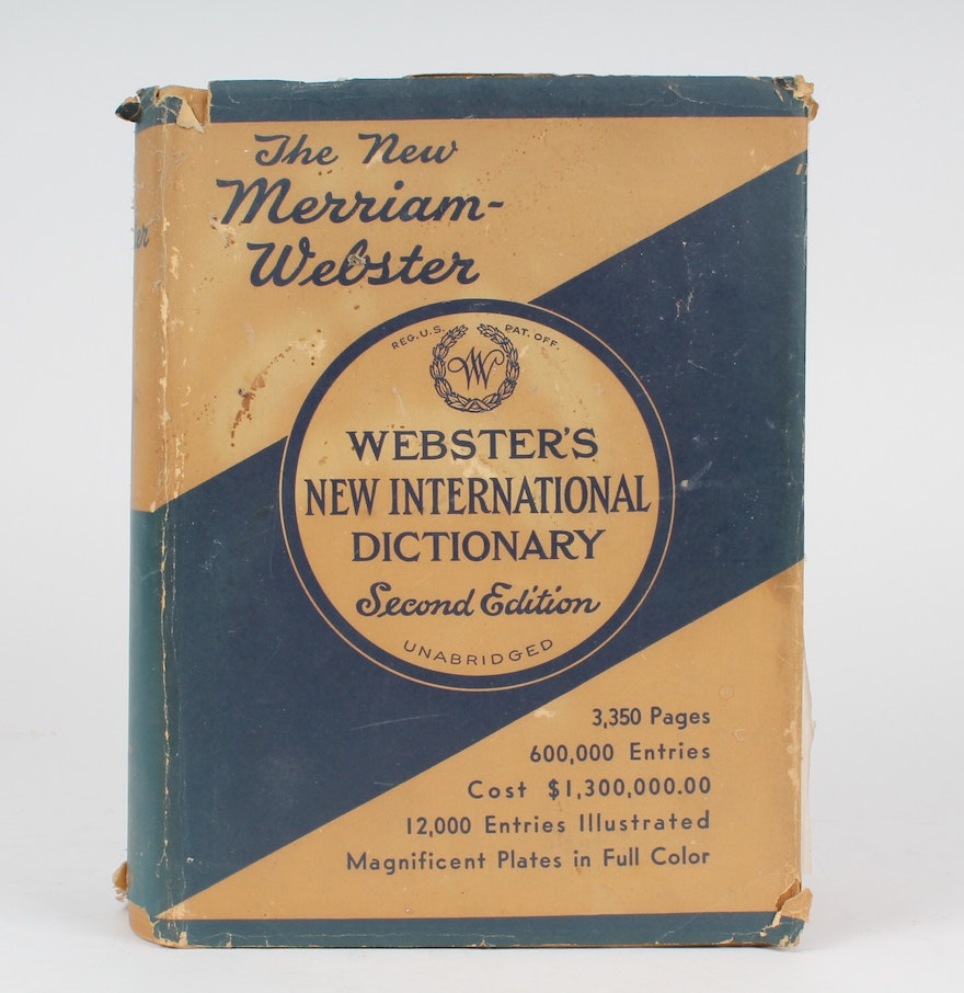 second edition unabridged 1943 new merriam webster s dictionary second edition unabridged 1943 new merriam webster s dictionary