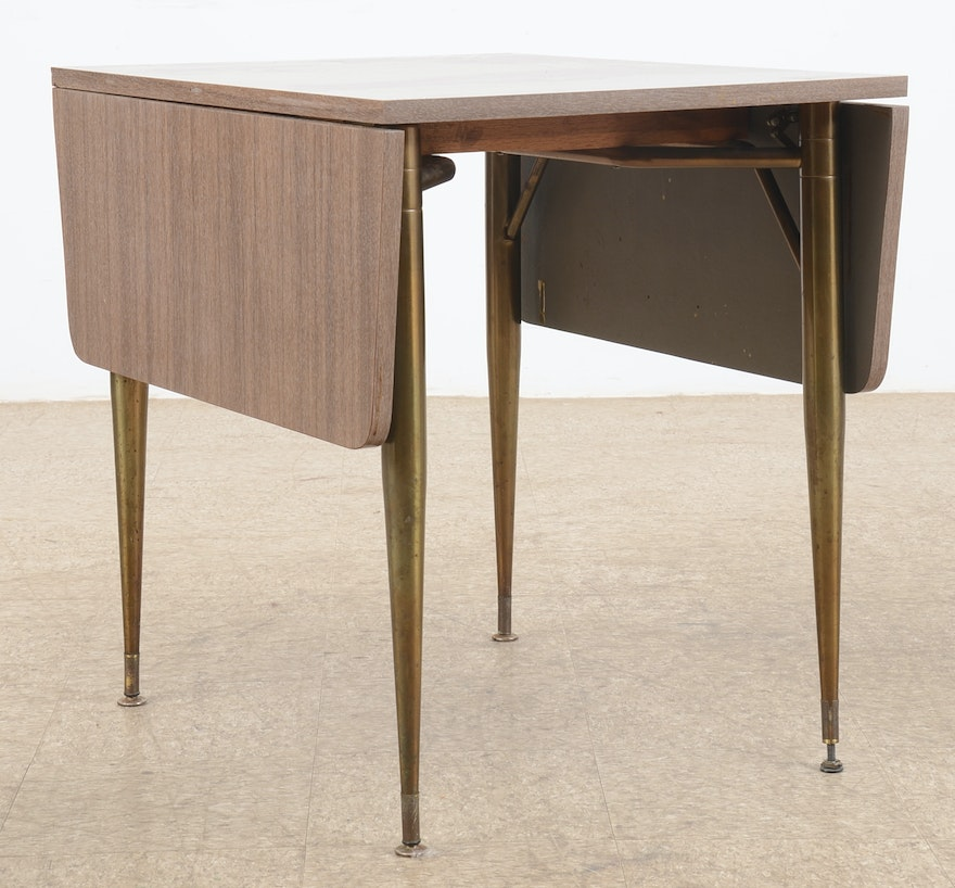 Vintage Drop Leaf Laminate Table And Chairs By Howell Ebth