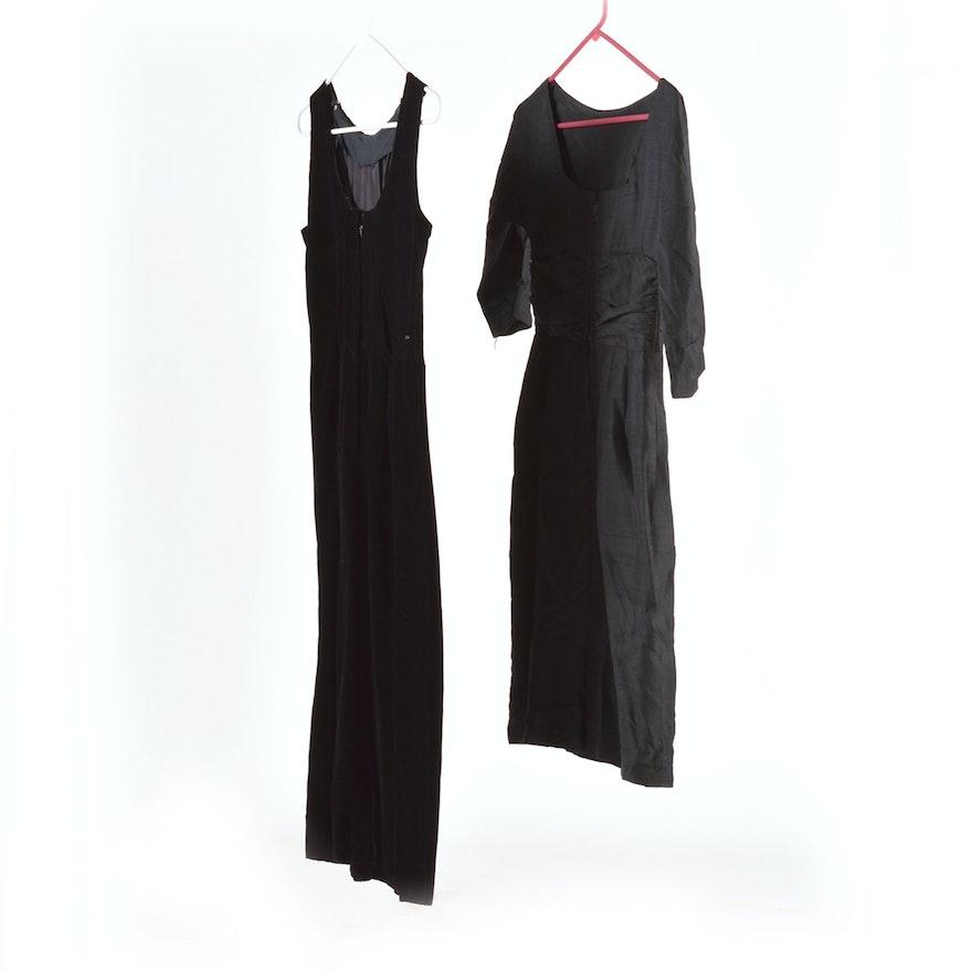 17b009ca913 Pair of Black 1950 s Evening Dresses   EBTH