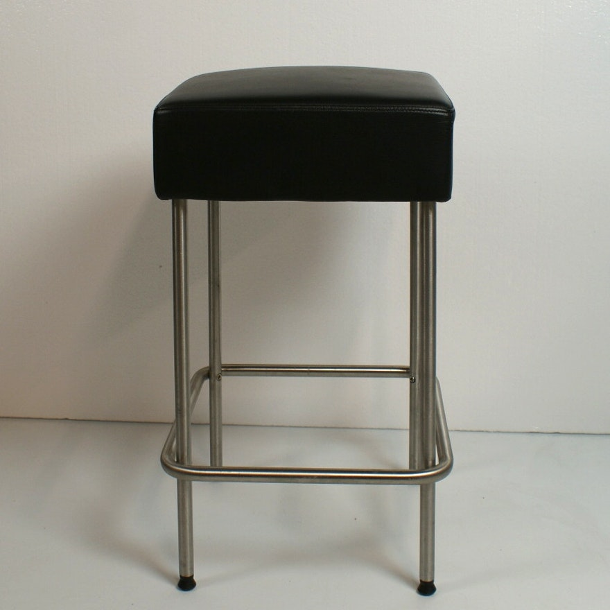 Superb Ikea Julius Leather And Stainless Steel Counter Height Stool Dailytribune Chair Design For Home Dailytribuneorg