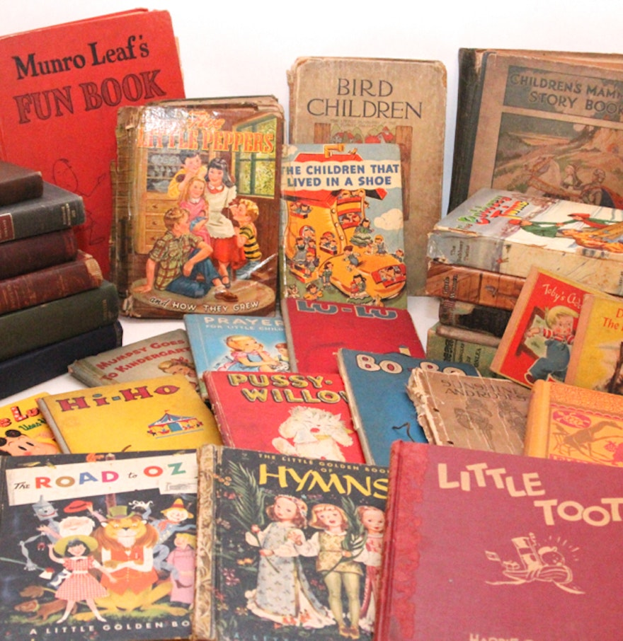 Vintage Books For Children And Teens  Ebth-2072