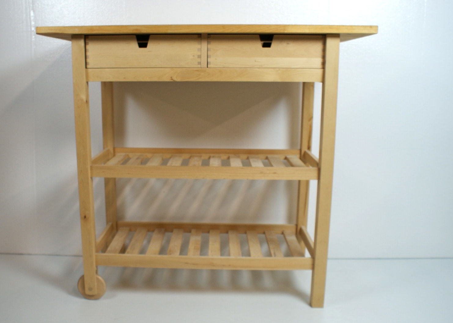 ikea kitchen cart with butcher block top ebth