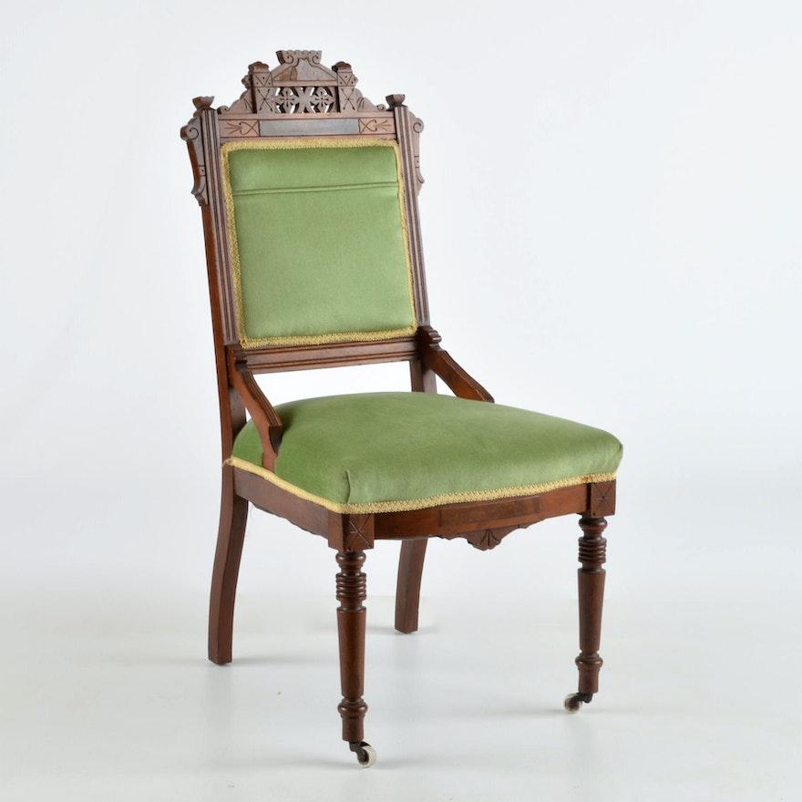 Antique Straight Back Chair Ebth