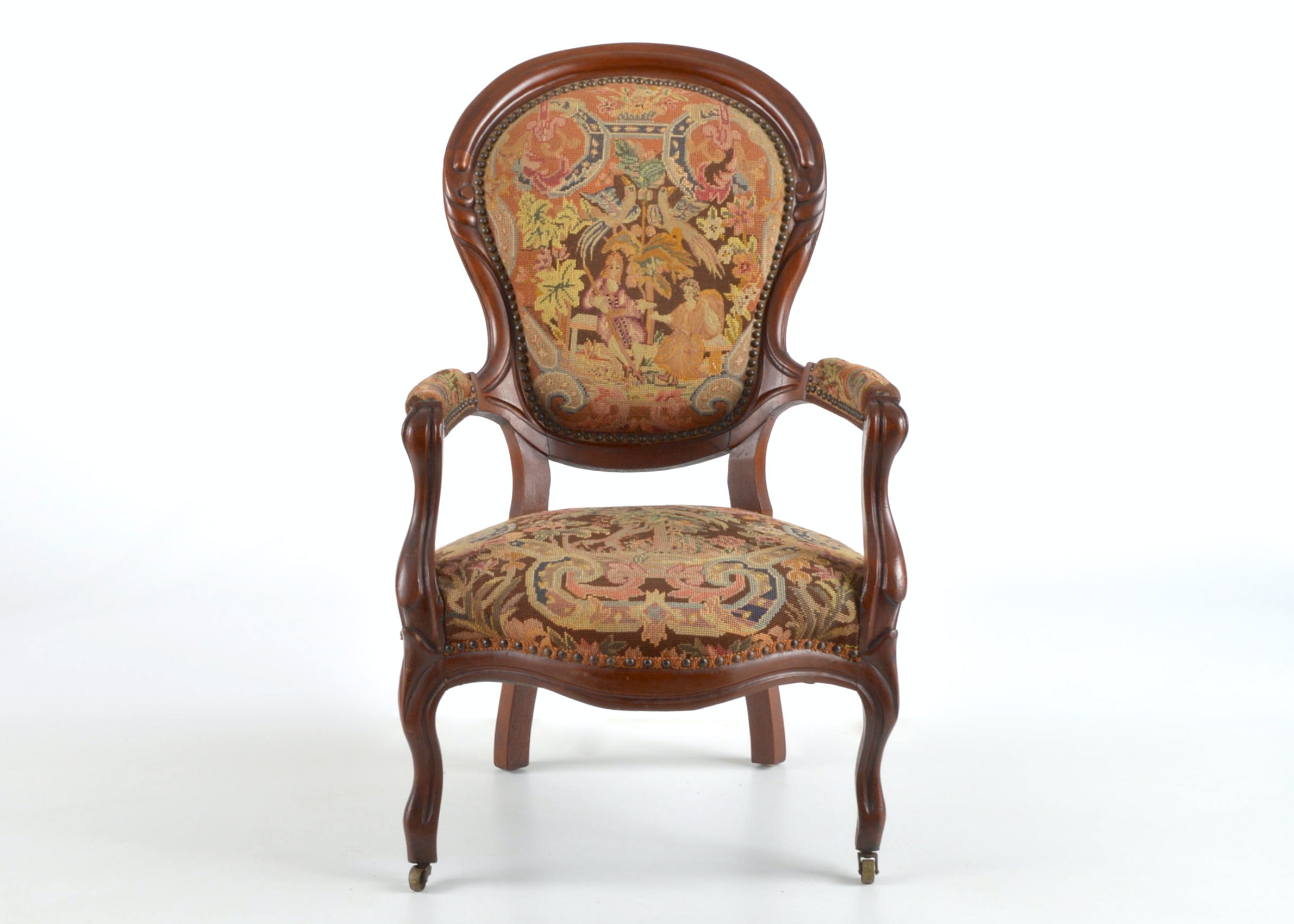 Antique Embroidered Chair