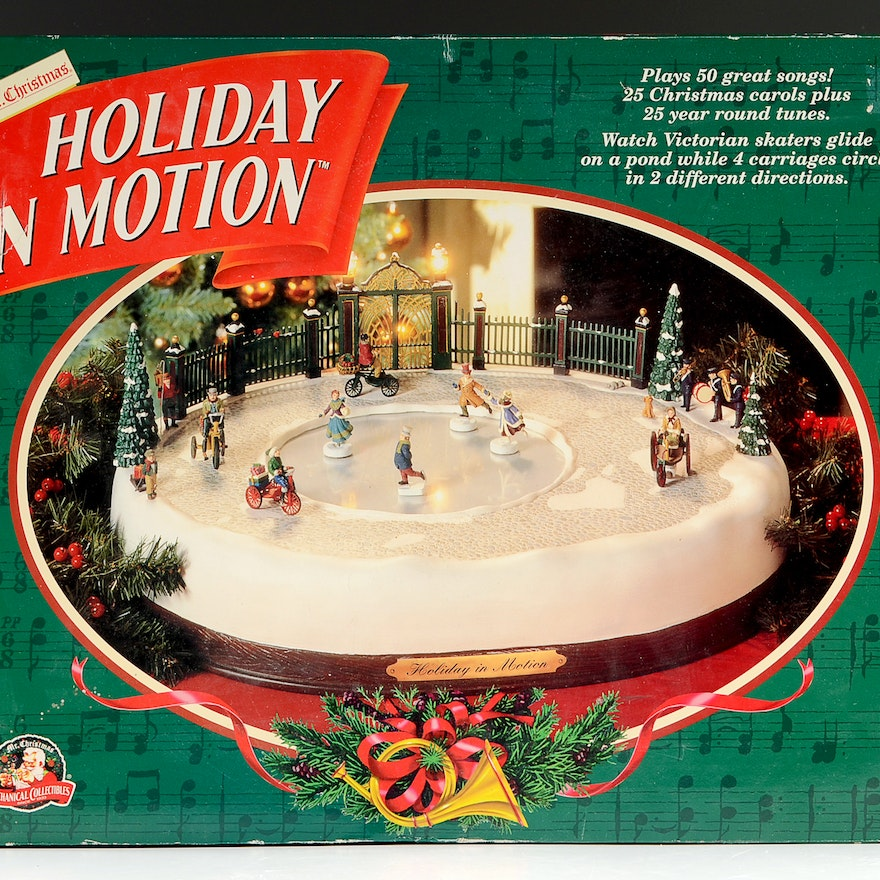 Christmas Ice Skating Rink Decoration: Mr Christmas Holiday In Motion Musical Ice Rink
