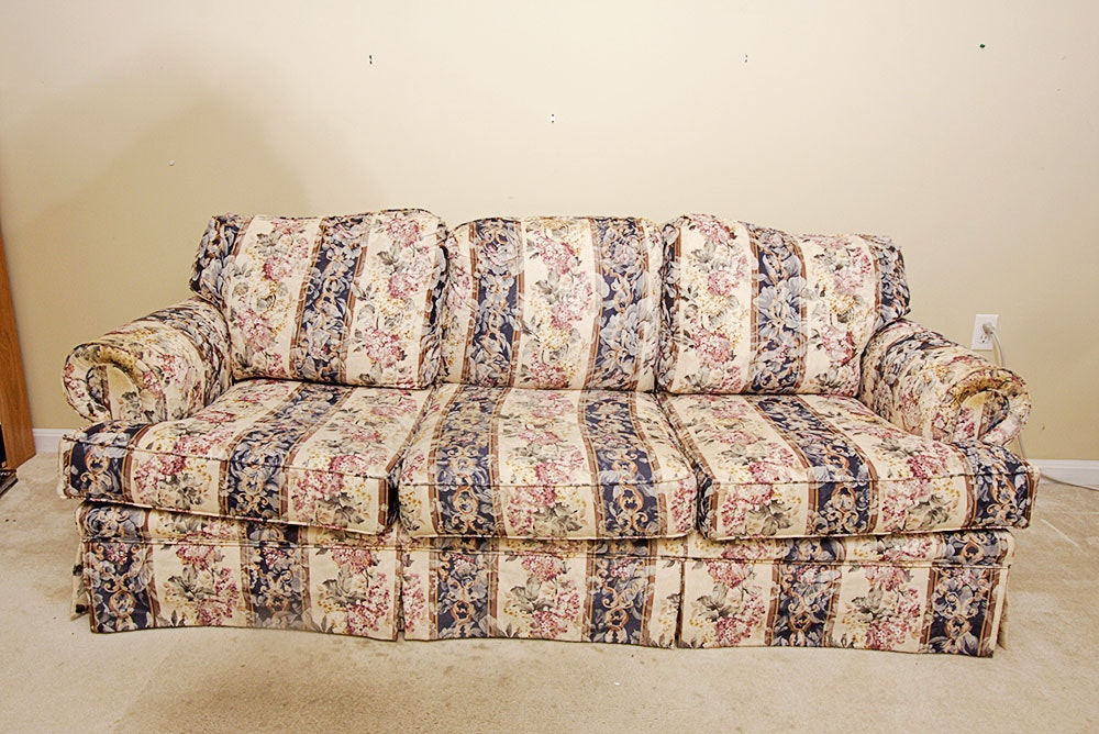 Floral Sofa broyhill sofa with floral pattern : ebth