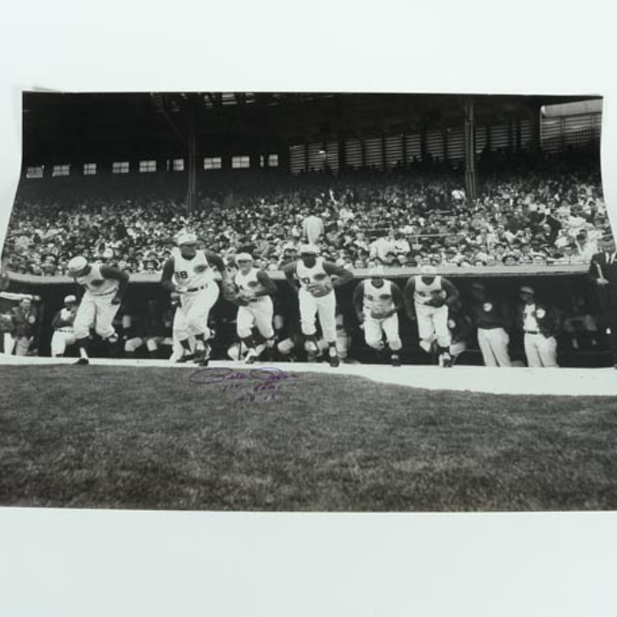Large Pete Rose First Game Posterphoto April 8 1963 Psa