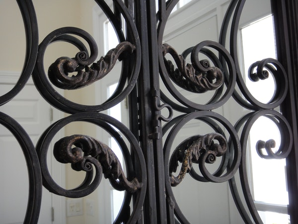 Metal Foyer Table Mirror : Gorgeous wrought iron foyer mirror and console table ebth