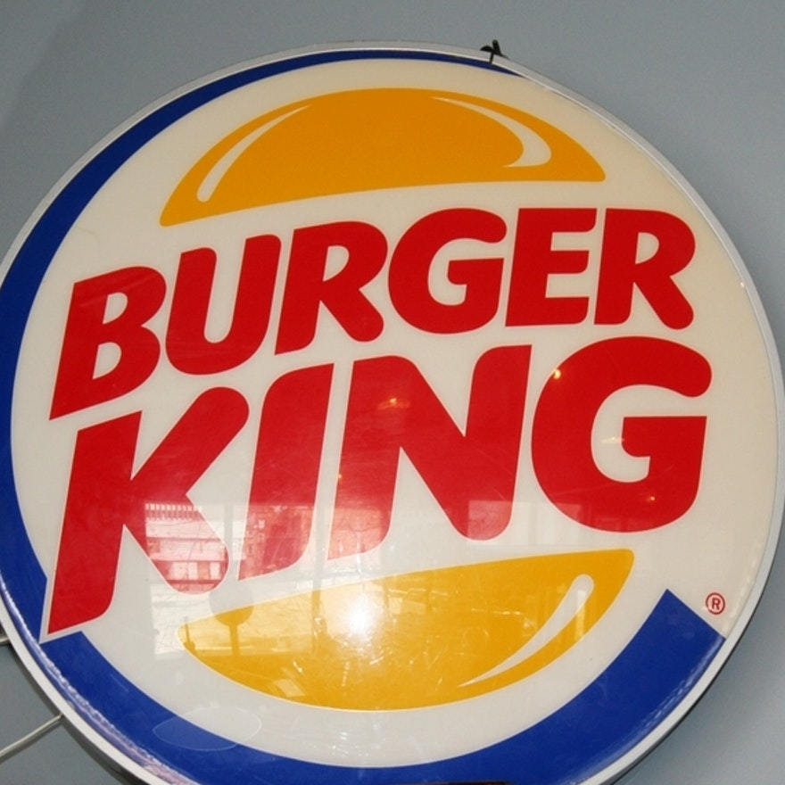 Lighted Burger King Sign