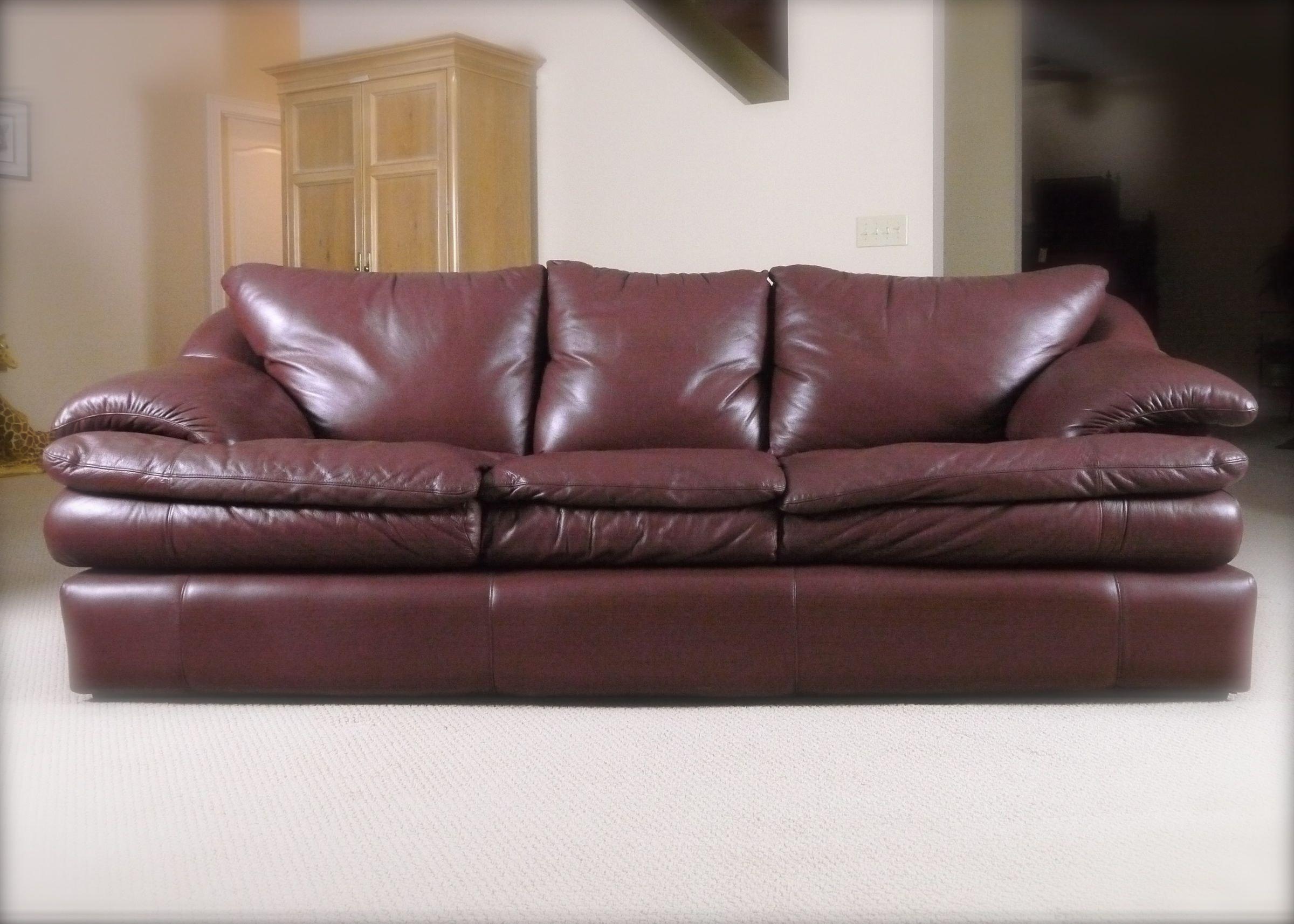 Leather Sofa By Robinson And Robinson Ebth