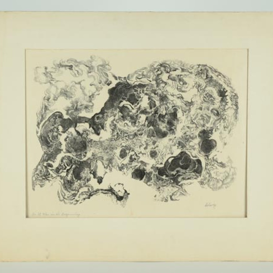 Original Hand Colored Lithograph By Arthur Louis Helwig