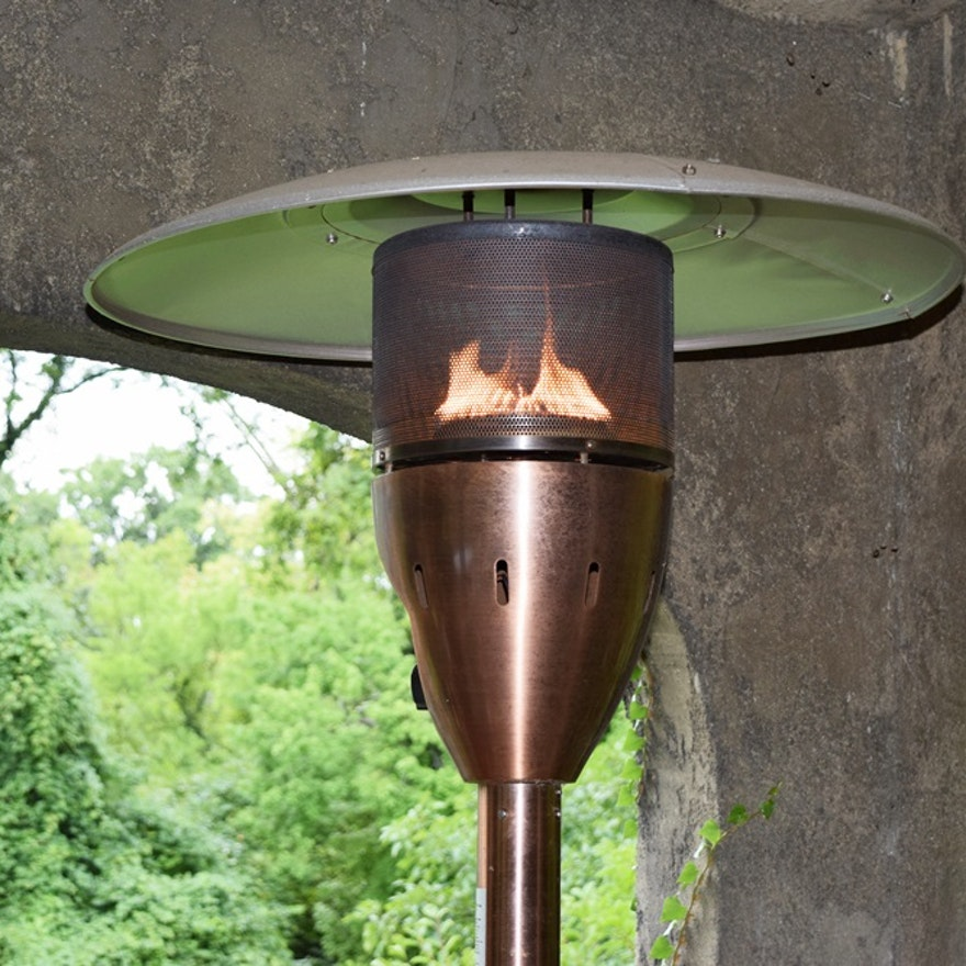 A Charmglow Patio Heater In Copper Finish