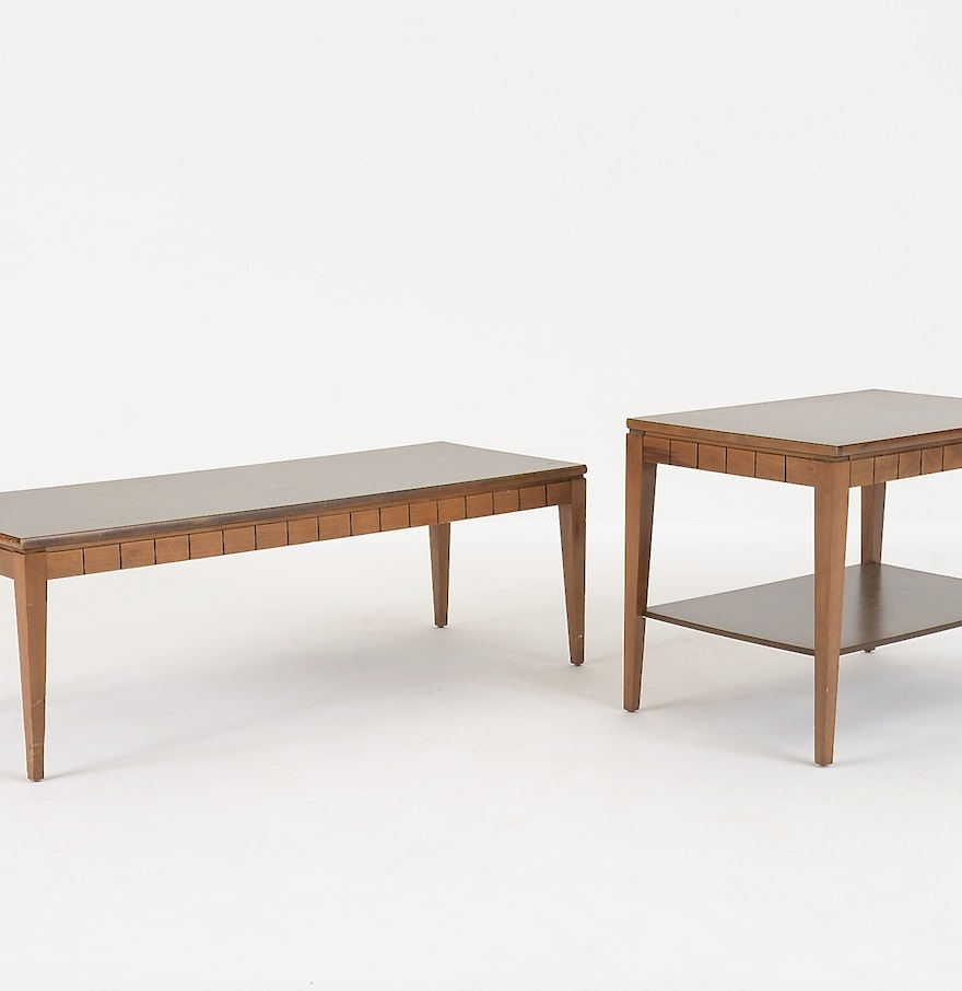 Mersman Mixed Veneer Coffee Table And End Table : EBTH