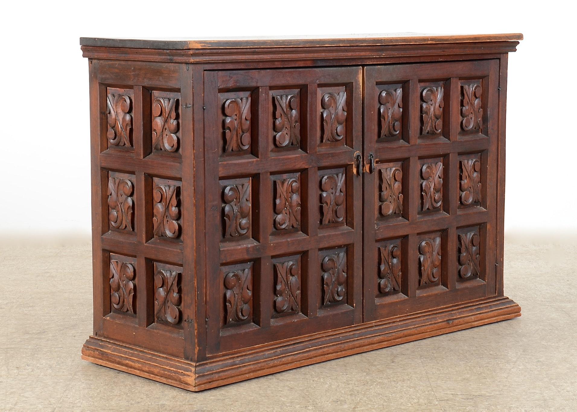 Primitive Antique Wooden Spinet Desk Ebth