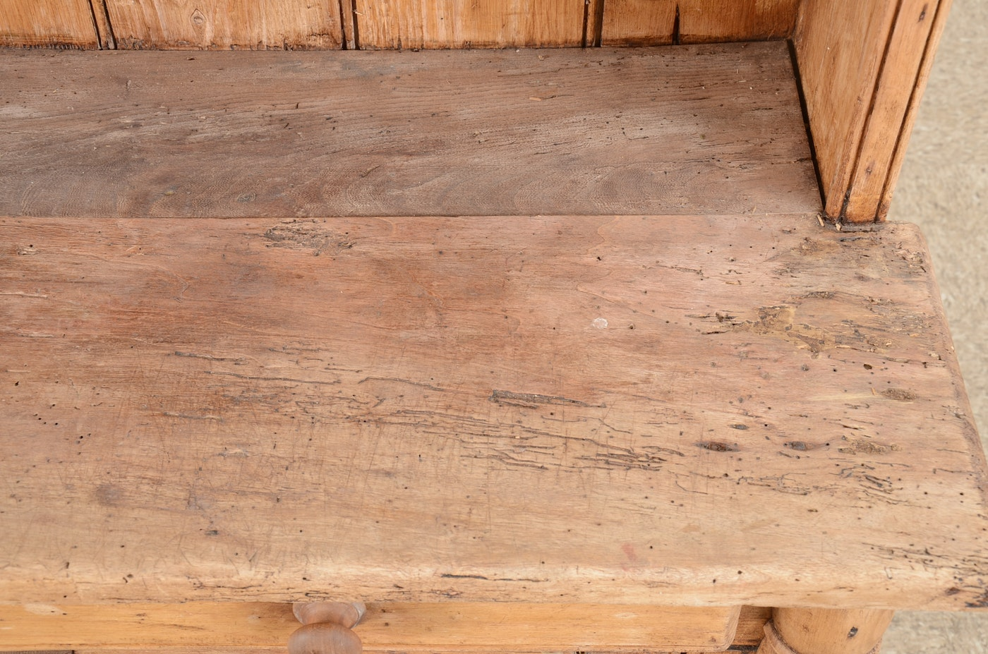 Hand Crafted Rustic Cabinet Ebth