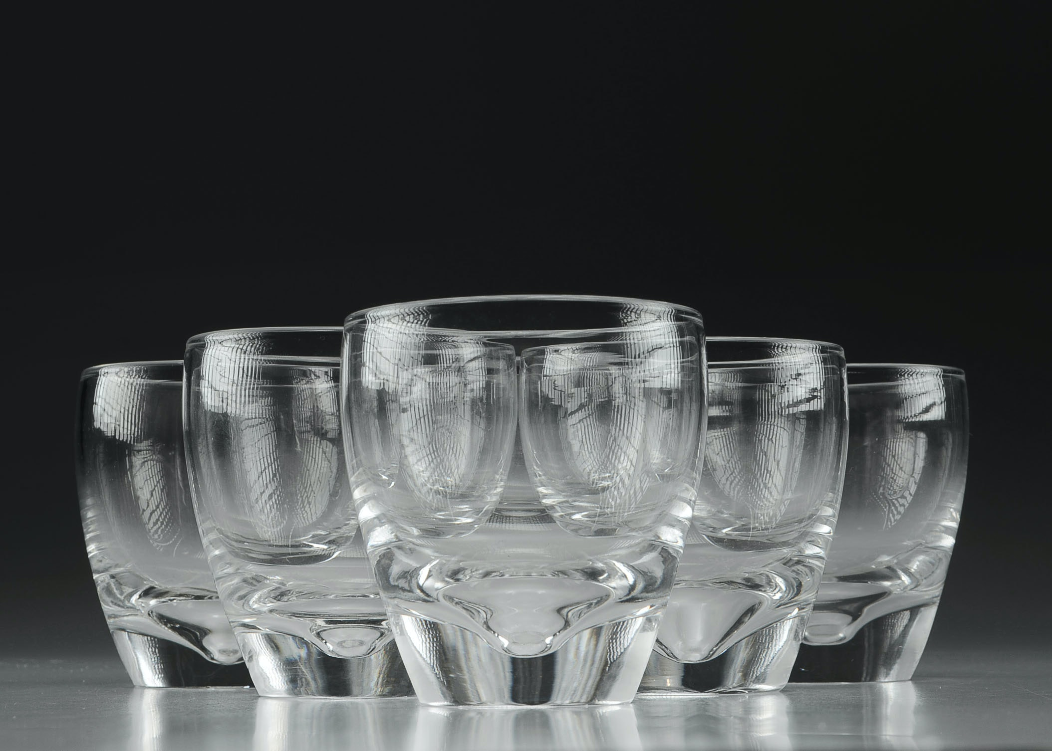 Attractive Set Of Six Steuben Old Fashioned Barware Glasses ...