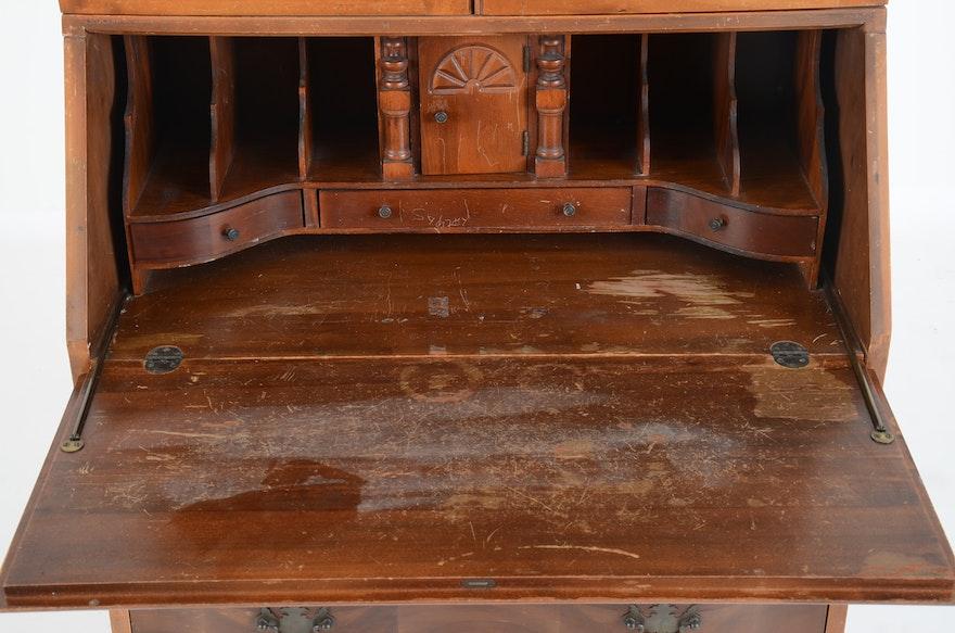 Vintage Northwestern Cabinet Co Mahogany Drop Front