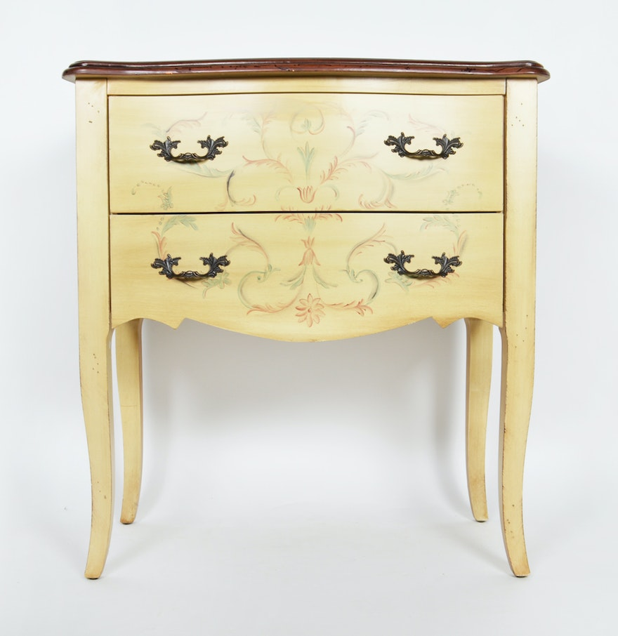 Hand painted two drawer chest ebth for Hand painted chests