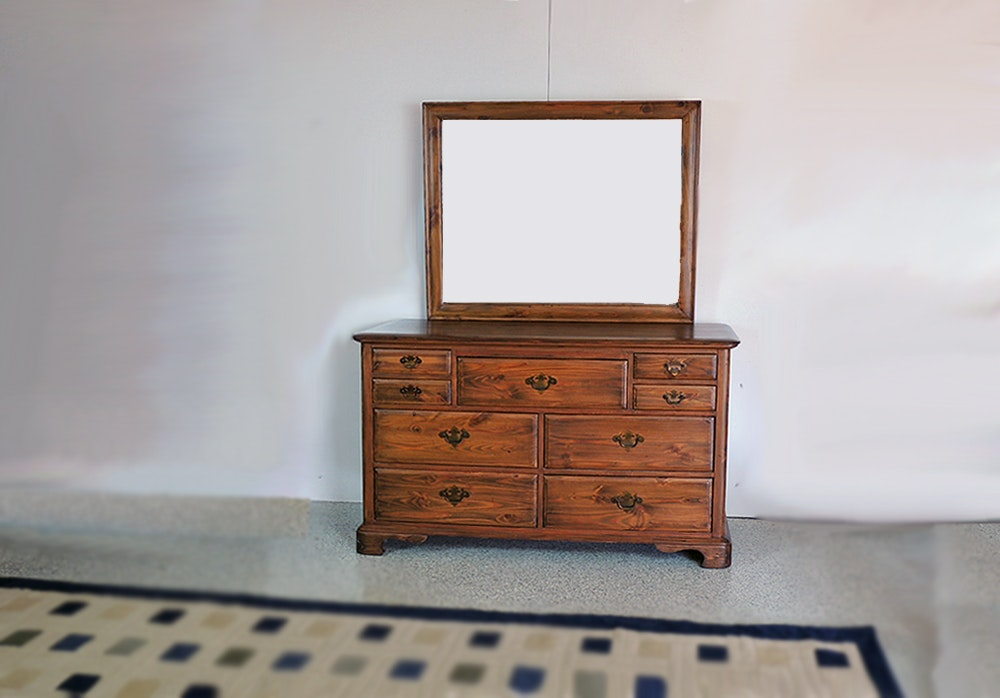 Solid Wood Dresser With Mirror By Unique Furniture Makers ...