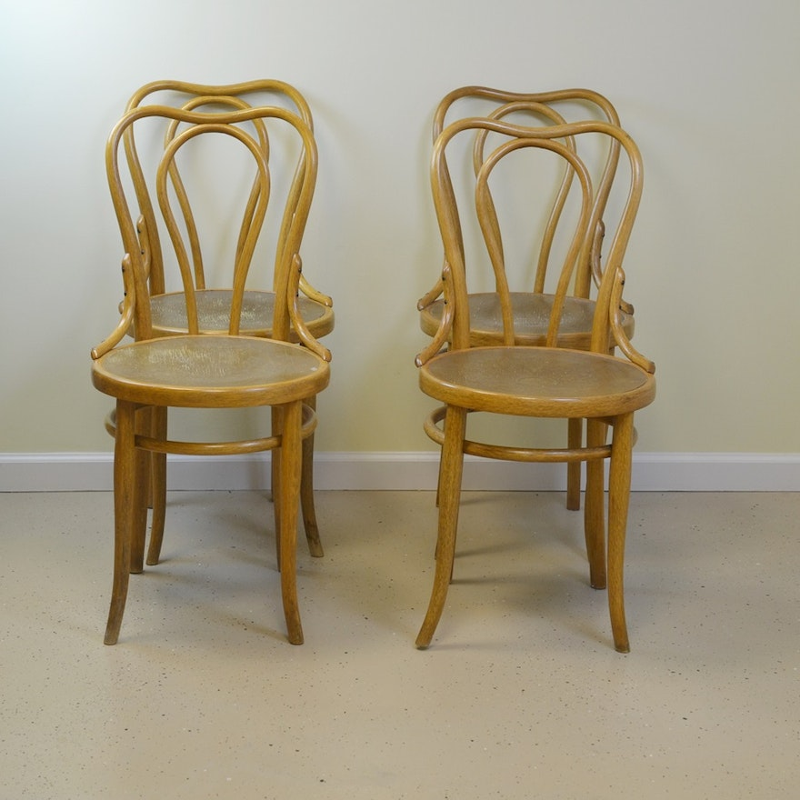 Four Vintage Bentwood Ice Cream Parlor Chairs Circa 1940s ... - Four Vintage Bentwood Ice Cream Parlor Chairs Circa 1940s : EBTH